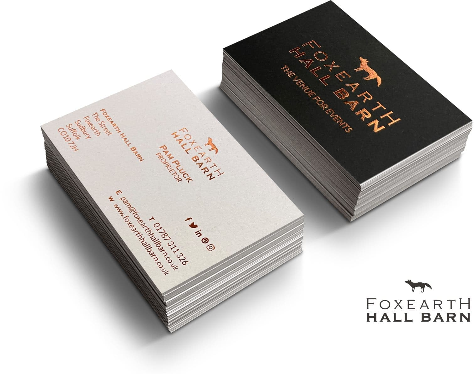 WP Creative, Design and Marketing Agency Suffolk, Branding, Venue Business Cards