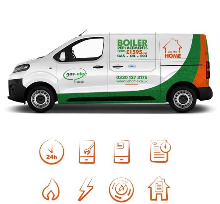 WP Creative, Design and Marketing Agency Suffolk, Branding, Service breakdown on a Van.