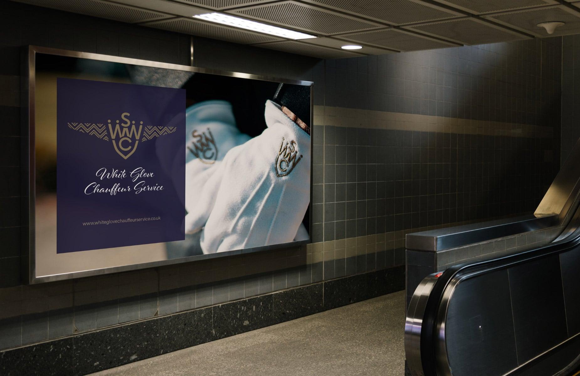 WP Creative, Design and Marketing Agency Suffolk, Digital Design, Company Advertising Example, Escalator Poster