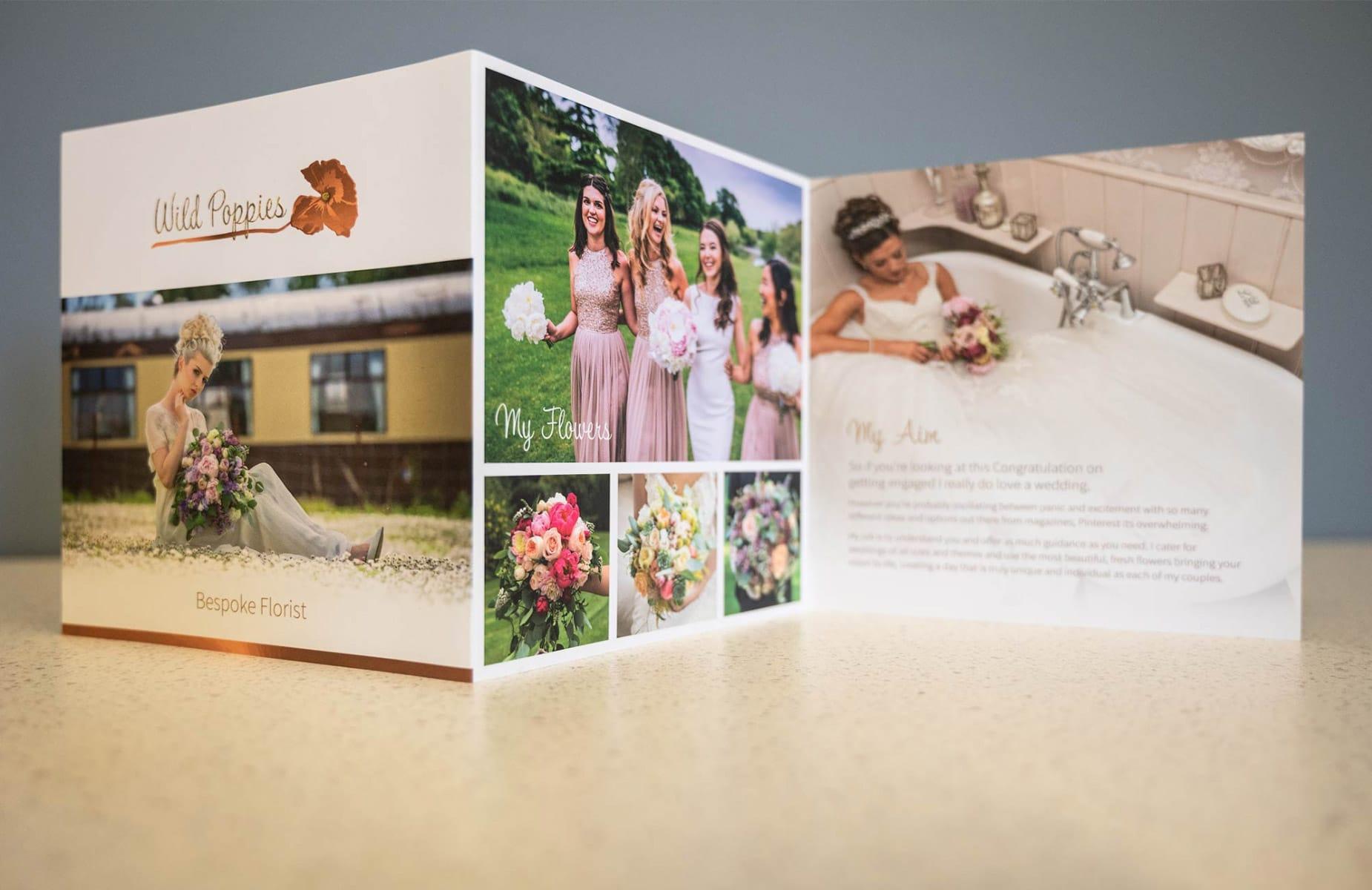 WP Creative, Design and Marketing Agency Suffolk, Print Design, Wedding Supplier, Florist Brochure