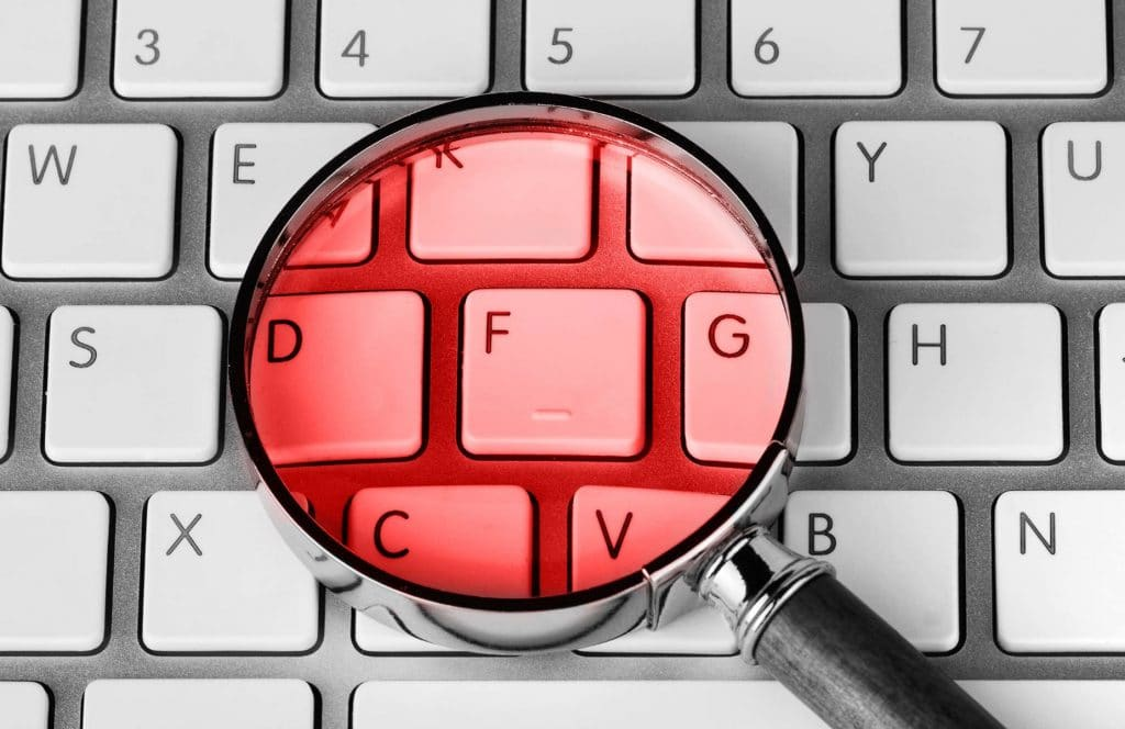 WP Creative, Design and Marketing Agency Suffolk, SEO Services, Magnify Glass on a Keyboard