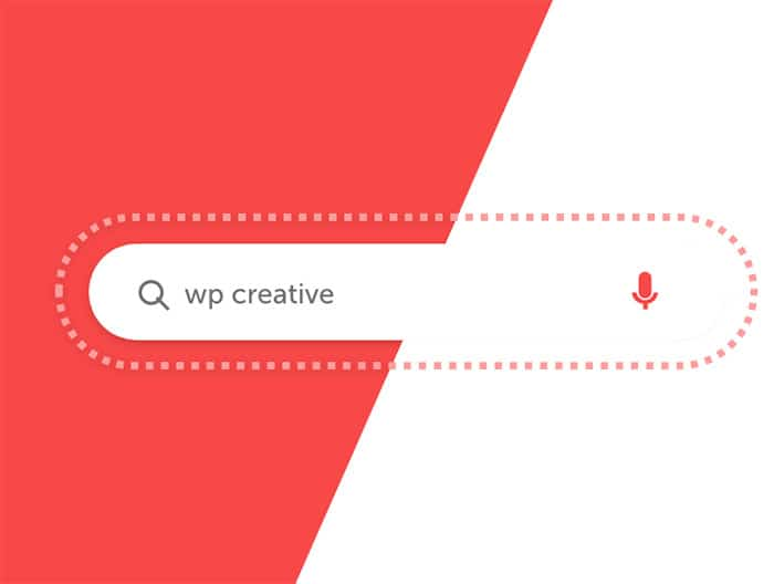 WP Creative, Design and Marketing Agency Suffolk, SEO Services, Search Bar