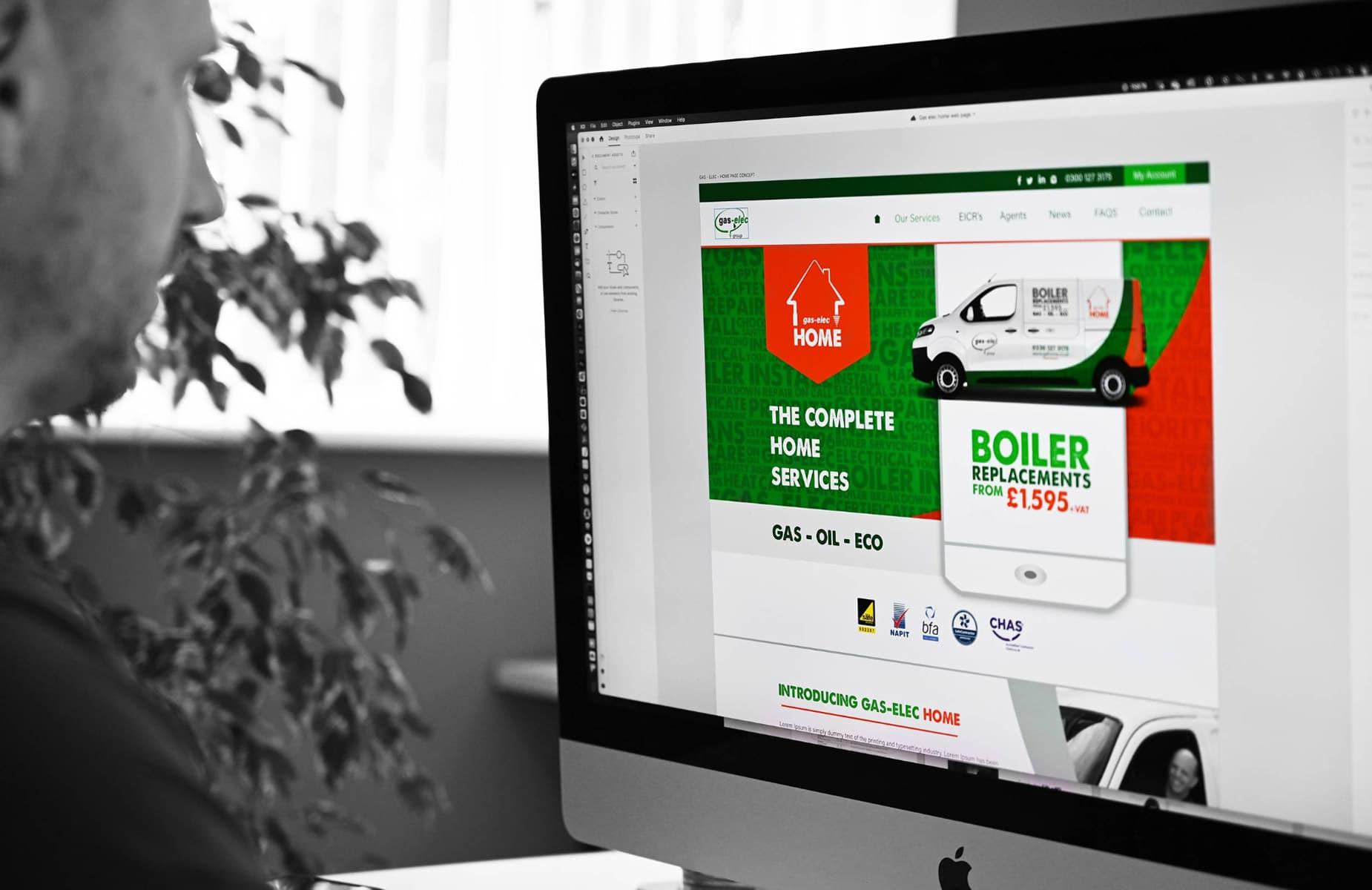WP Creative, Design and Marketing Agency Suffolk, Website Design, Matt Patrick Designing a Client Website